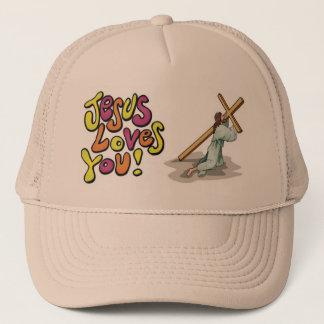 Boné Jesus ama-o imagem do chapéu