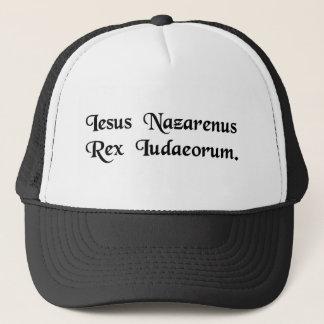 Boné Jesus de Nazareth, rei dos Jews.