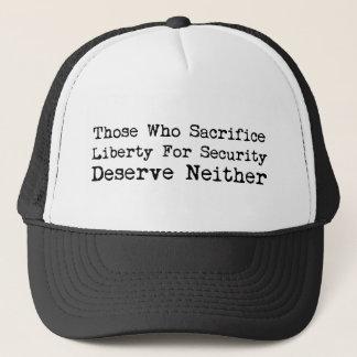 Boné Liberdade do sacrifício para o chapéu da segurança