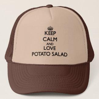 Boné Mantenha a calma e ame a salada de batata