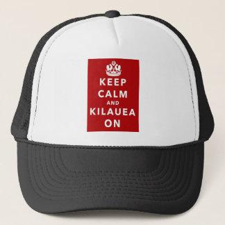 Boné Mantenha a calma e o Kilauea sobre