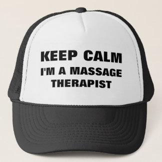 Boné Mantenha a calma que eu sou um chapéu do terapeuta