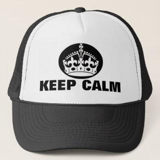 Boné Mantenha o chapéu britânico calmo da coroa
