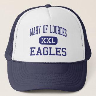 Boné Mary de quedas pequenas médias de Lourdes Eagles