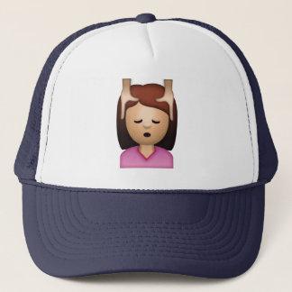 Boné Massagem de cara da mulher - Emoji
