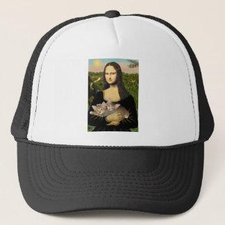 Boné Mona Lisa - dois gatinhos do gato malhado