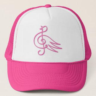 Boné Música cor-de-rosa do pássaro