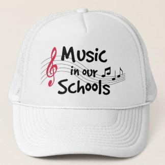 Boné Música em nossas escolas