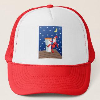 Boné Natal engraçado festivo Papai Noel no telhado