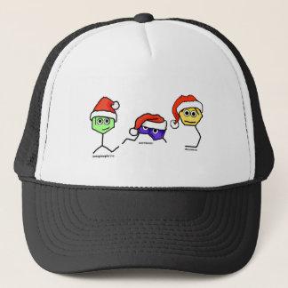 Boné Neurotransmissor em chapéus do papai noel