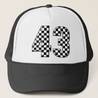 Boné número 43 checkered