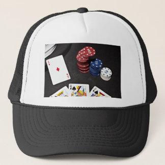 Boné O ás do póquer apostou a boa mão