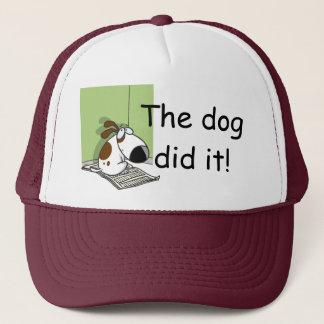 Boné O cão fê-lo chapéu