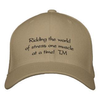 Boné O chapéu bordado das mãos rede cura