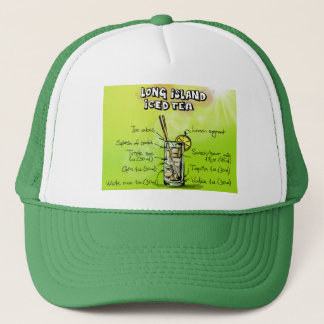 Boné O chapéu do camionista da receita da bebida do chá