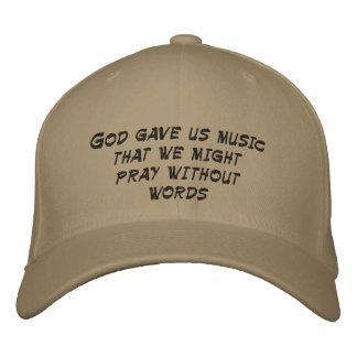Boné O deus deu-nos a música que nós pudemos pray sem