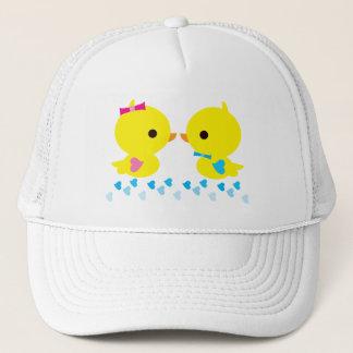 Boné O género amarelo das asas do coração de Duckies