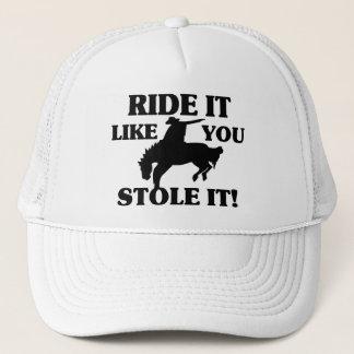 Boné O passeio que gosta de você roubou-o vaqueiro