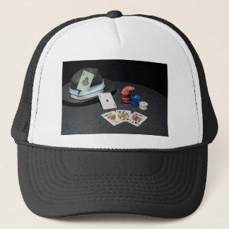 Boné O póquer carda o chapéu do gângster