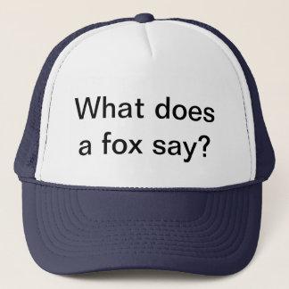 Boné O que faz uma raposa diga o chapéu