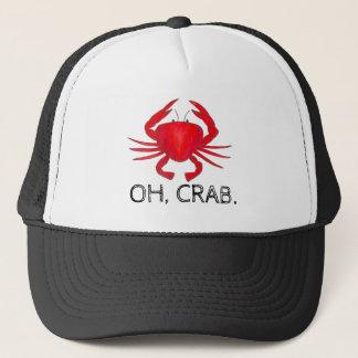 Boné Oh, Crab (excremento) o chapéu vermelho dos