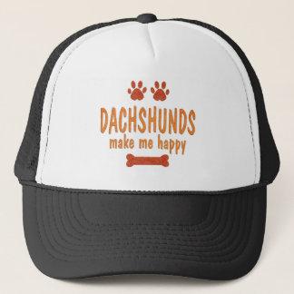 Boné Os Dachshunds fazem-me feliz