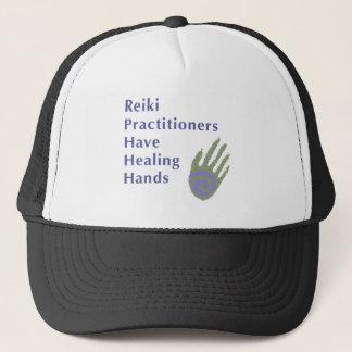 Boné Os médicos de Reiki têm as mãos curas
