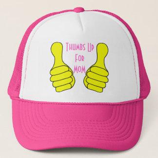 Boné Os polegares levantam o modelo do chapéu