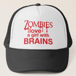 Boné Os zombis amam uma menina com cérebros!