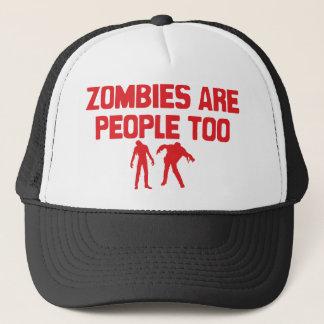 Boné Os zombis são pessoas demasiado