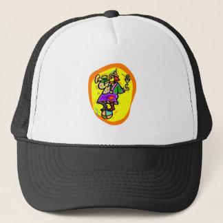 Boné Palhaço colorido na bola com chifre & bebida