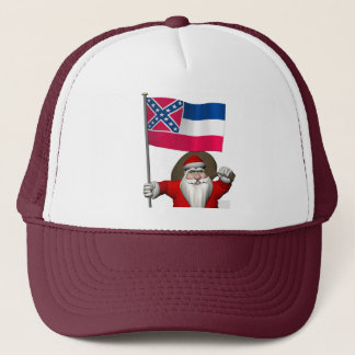 Boné Papai Noel com a bandeira de Mississippi