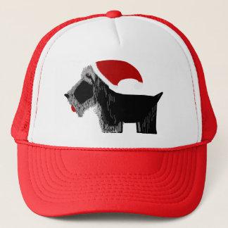 Boné Papai noel do cão do Scottie!