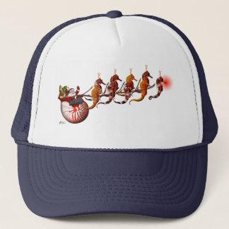 Boné Papai noel e chapéu do trenó do cavalo marinho
