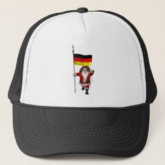 Boné Papai Noel patriótico com a bandeira de Alemanha