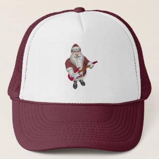 Boné Papai Noel que joga a guitarra elétrica