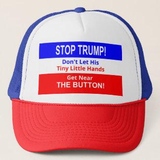 Boné Pare o chapéu pequeno minúsculo do camionista das