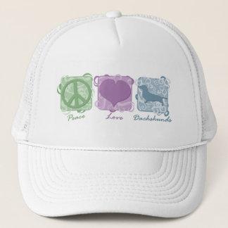 Boné Paz, amor, e Dachshunds Pastel