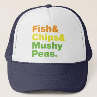Boné Peixes & microplaquetas & ervilhas Mushy