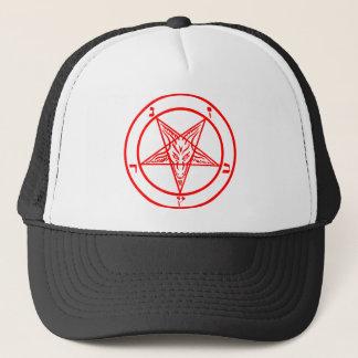 Boné Pentagram vermelho de Baphomet