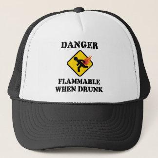 Boné Perigo inflamável quando bebado - engraçado Fart o