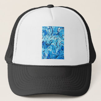 Boné Pinwheels azuis (expressionism abstrato)