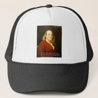 Boné Presentes & cartões das citações de Ben Franklin
