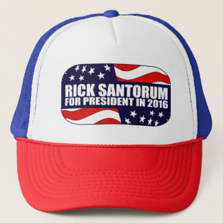 Boné Presidente 2016 de Santorum do rick