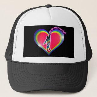 Boné Preto do coração do arco-íris do Gymnast