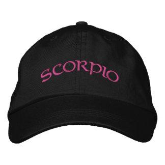 Boné preto/magenta do zodíaco da Escorpião