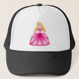 Boné Princesa loura Cor-de-rosa Pingamento