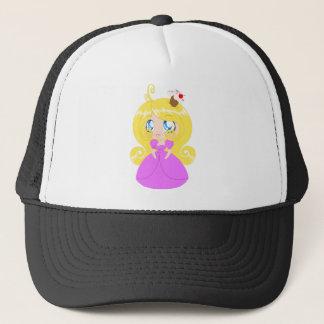 Boné Princesa loura Cor-de-rosa Pingamento do cupcake