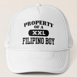 Boné Propriedade de um menino filipino