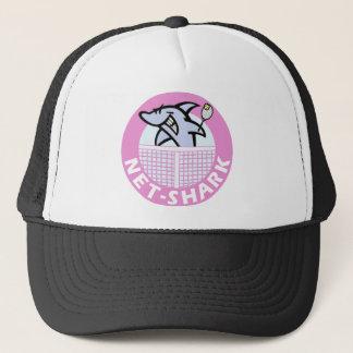 Boné rede-tubarão-cor-de-rosa